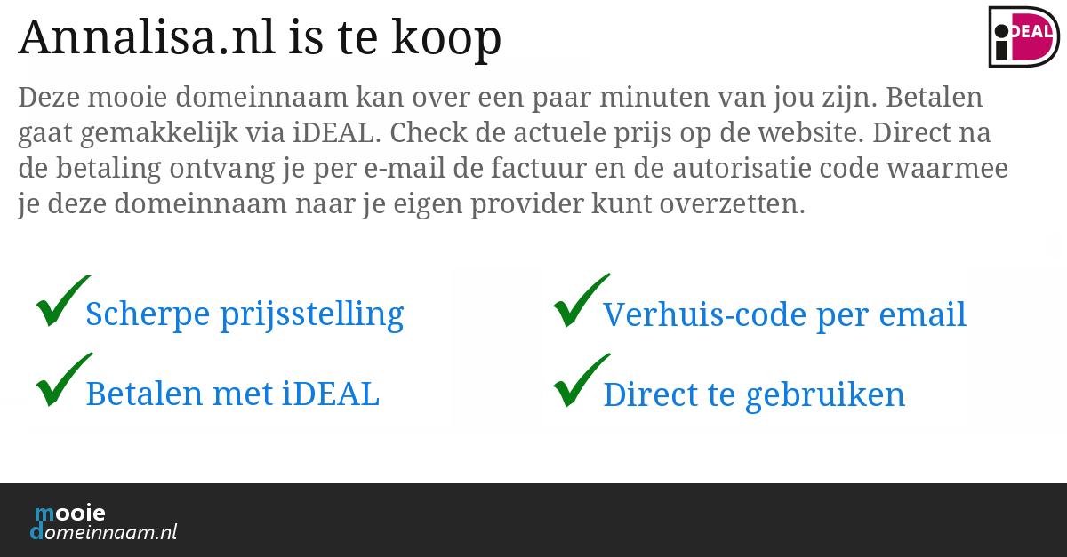 (c) Annalisa.nl
